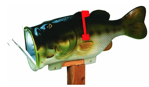 Mailbox Cover Bass Fish