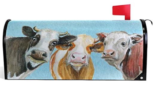 Mailbox Cover Cows