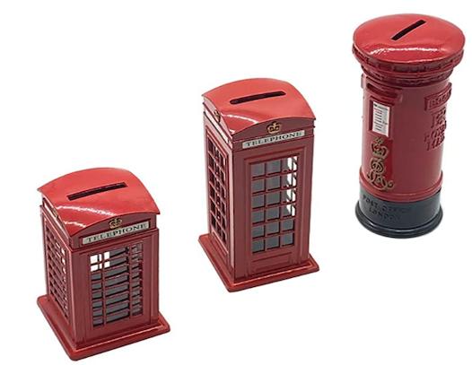 English Mailbox and Telephone Set