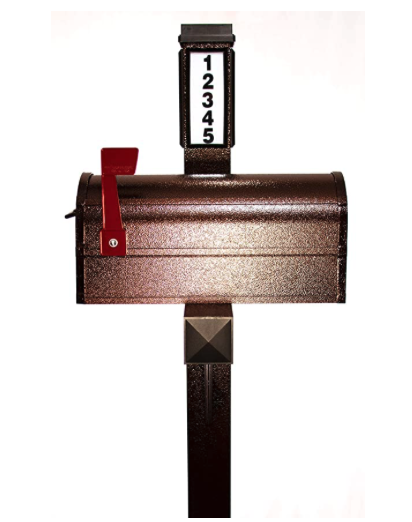 Solar Powered Mailbox and Post Set