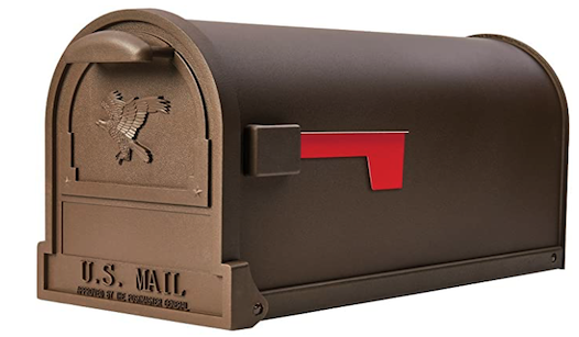 Bronze Post Mount Mailbox